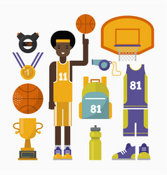 Basketball game competition elements sport vector