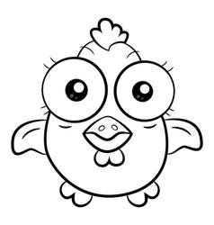 Cartoon chicken vector
