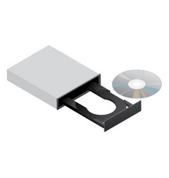 Cd rom dvd disk drive vector