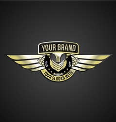 Chrome wing logo vector