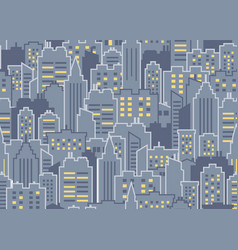 City seamless pattern vector
