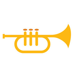 Clipart musical instrument trumpet or color vector