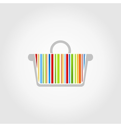 Colorful basket vector image