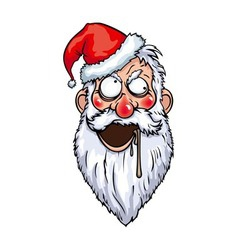 Crazy Santa Head vector image
