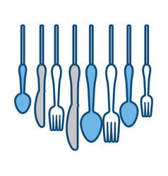 cutlery utensils design vector image