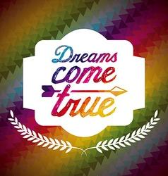 Dreams postcard vector