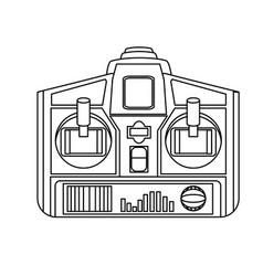 drone remote control wireless device icon vector image