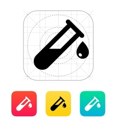 Drop from test tube icon vector image