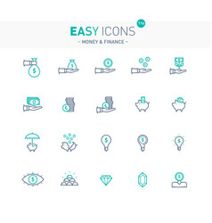 easy icons 11e money vector image