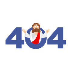 error 404 jesus christ is surprise page not found vector image