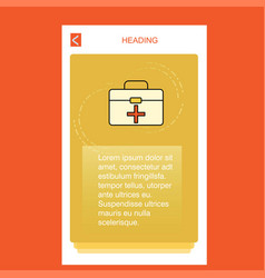 first aid box mobile vertical banner design design vector image