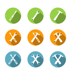 Flat Tools Icons vector