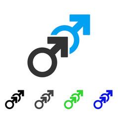 gay sex flat icon vector image