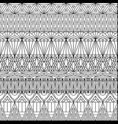 geometric ornamental seamless pattern vector image