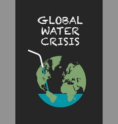 Global water crisis poster vector
