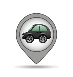 Hatchback car icon map pointer vector