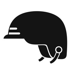 hiking helmet icon simple style vector image