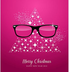 Hipster Merry Christmas and Happy New Year vector image