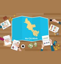 Ho chi minh vietnam city region economy growth vector
