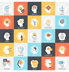 Human Psychology Icons vector image