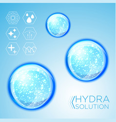 hyaluronic acid or abstract molecules design vector image
