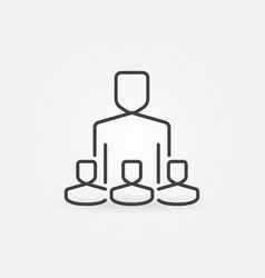 Influencer with followers concept icon vector