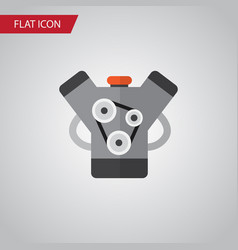 isolated engine flat icon motor element vector image