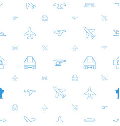 Jet icons pattern seamless white background vector