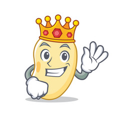 King soy bean mascot cartoon vector