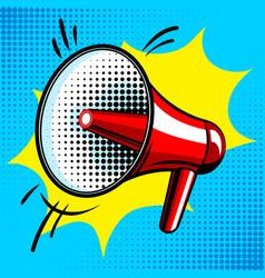 Loudspeaker comic book style vector