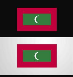 maldives flag banner design vector image