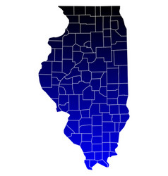 map illinois vector image