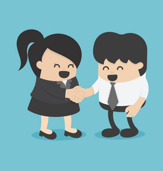 Men and women shaking hands entrepreneurs vector