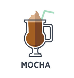 Mocha chocolate-flavored variant latte isolated vector