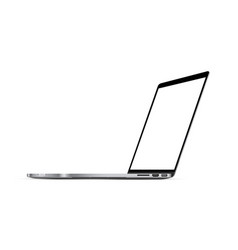 Modern laptop mockup with perspective view vector