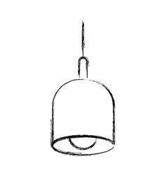 monochrome blurred silhouette of pendant lamp vector image