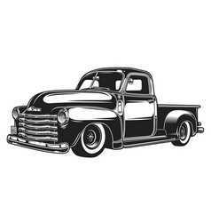 Monochrome of retro style truck vector