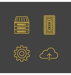 Network devices and hosting services vector