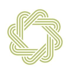 Octagon lightgreen abstract vector