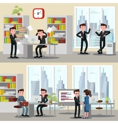 Office People Horizontal Banners vector image