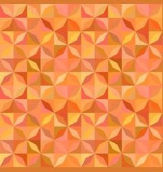 orange geometric striped shape mosaic tile vector image