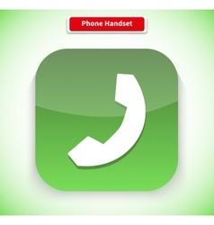 Phone Handset App Icon Flat Style Design vector
