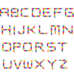 Rainbow Spectrum Font vector