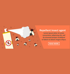 Repellent insect agent banner horizontal concept vector
