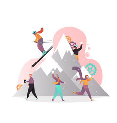 rest in mountains concept for web banner vector image