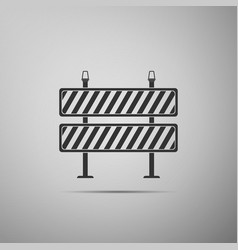 Road barrier icon isolated on grey background vector