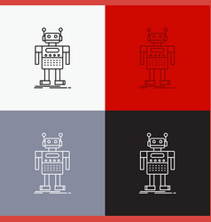 Robot android artificial bot technology icon over vector