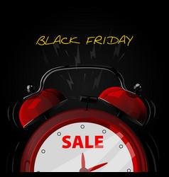 sale alarm clock vector image