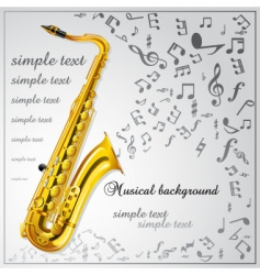 saxophone music background vector image