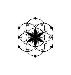 Seed life symbol sacred geometry logo icon vector
